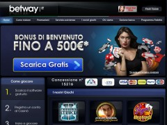 Betway.it amplia il bonus fino ad €500