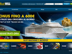 Con William Hill si vince una crociera al giorno fino al 14 agosto 2013!